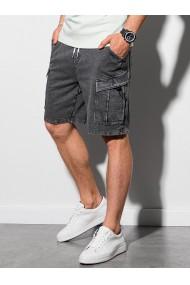 Pantaloni scurti barbati W292 - gri-inchis