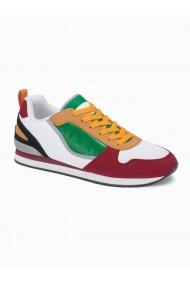 Sneakers casual barbati T369 - alb rosu
