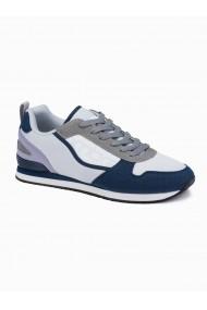 Sneakers casual barbati T369 - gri-deschis-bleumarin