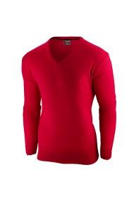 Bluza pentru barbati rosu flex fit casual - gentleman V-neck