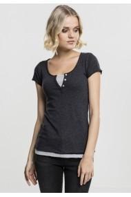 Tricou Two Colored pentru Femei gri carbune gri Urban Classics