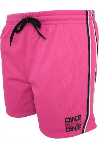 Pantaloni sport din plasa pentru femei  roz-negru Urban Dance