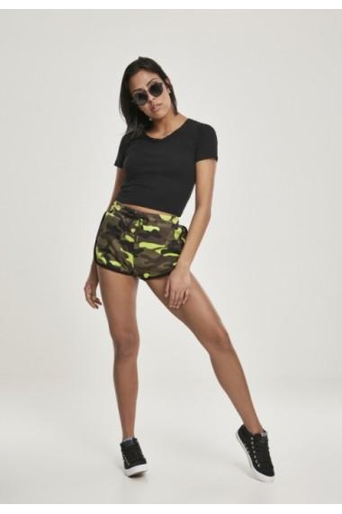 Pantaloni scurti imprimeu camuflaj pentru Femei frozenyellow-camuflaj Urban Classics