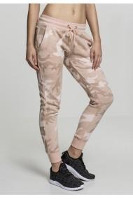 Pantaloni Camo Terry pentru Femei rose-camuflaj Urban Classics