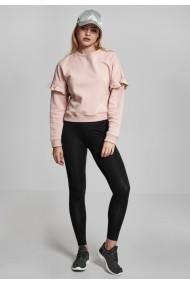 Bluza cu volane lejer pentru Femei light-rose Urban Classics