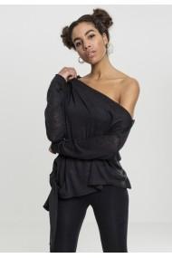 Pulover asimetric pentru Femei negru Urban Classics
