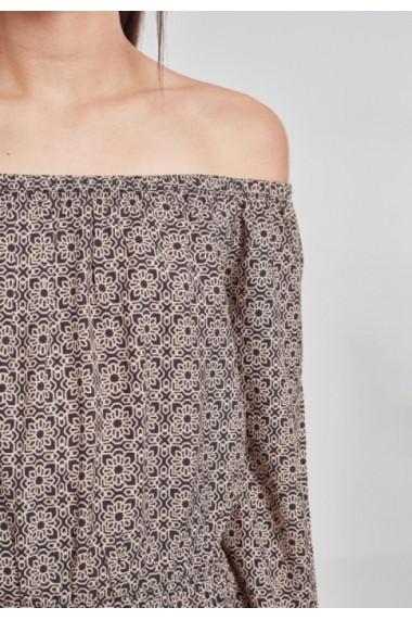 Salopeta scurta cu maneca lunga pentru Femei negru-floare Urban Classics