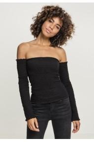 Cold Shoulder Smoke LS pentru Femei negru Urban Classics