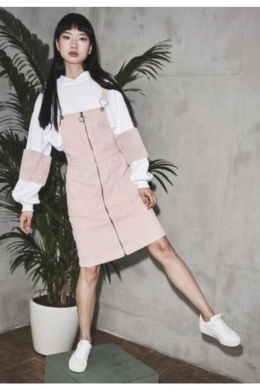 Salopeta Rochie Corduroy pentru Femei rose Urban Classics