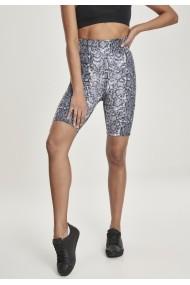 Pantaloni scurti AOP cu talie inalta ciclism pentru Femei gri-snake Urban Classics