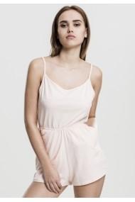 Salopeta scurta cu bretele subtiri pentru Femei roz Urban Classics