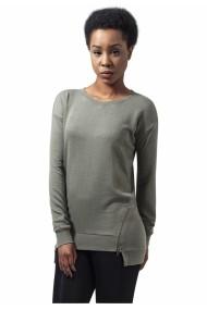 Bluze casual cu fermoar in fata pentru Femei oliv deschis Urban Classics