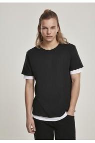 Tricou cu strat dublu Full negru-alb Urban Classics