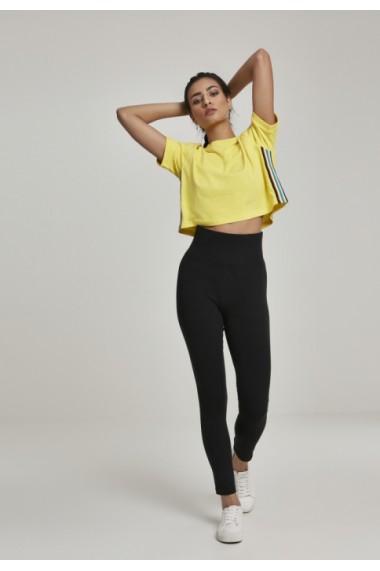 Colanti cu talie inalta Jersey pentru Femei negru Urban Classics