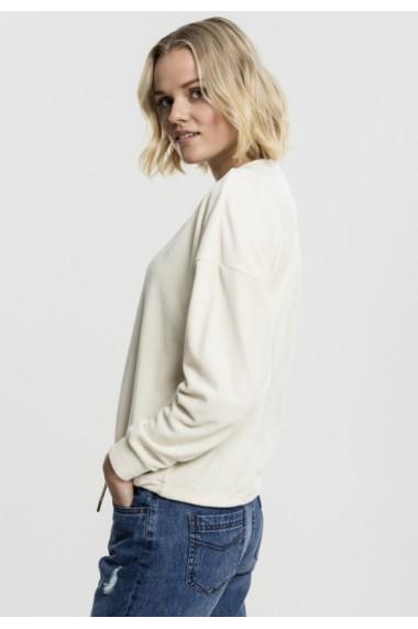 Bluza tip catifea pentru Femei nisip Urban Classics