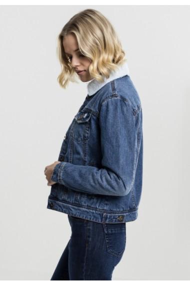 Jacheta Sherpa Denim pentru Femei albastru-washed Urban Classics