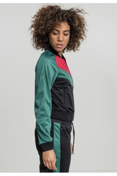 Bluza de trening Short Raglan pentru Femei negru-verde Urban Classics