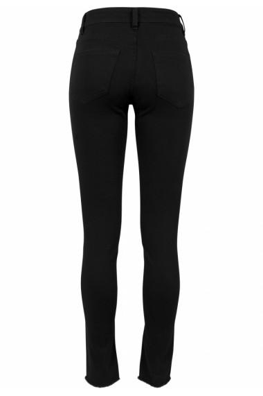 Pantaloni cu taieturi la genunchi pentru Femei negru Urban Classics
