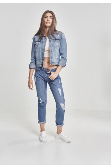 Jacheta Denim pentru Femei prespalat-albastru Urban Classics