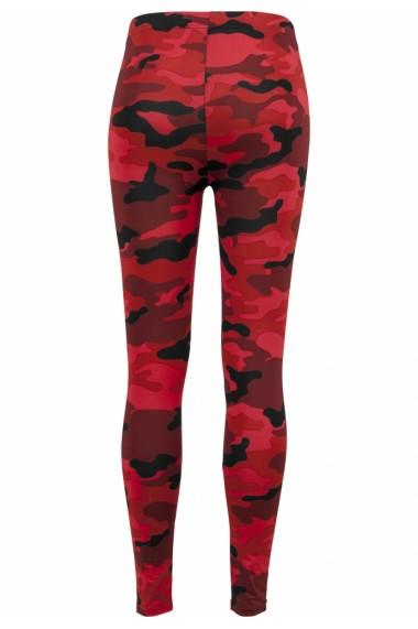 Colanti Camo pentru Femei rosu-camuflaj Urban Classics