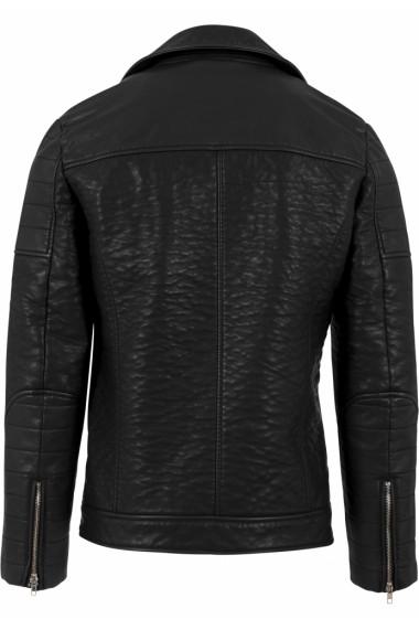 Leather Imitation Biker Jacket
