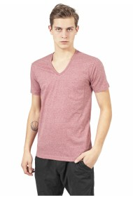 Melange V-Neck Pocket Tee