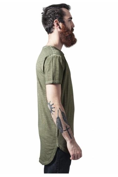 Tricouri lungi la spate spray dye