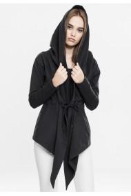 Cardigan sport asimetric pentru Femei negru Urban Classics