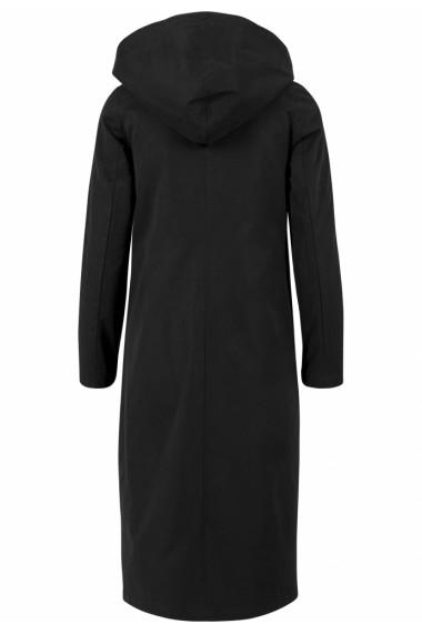 Ladies Peached Long Asymmetric Coat