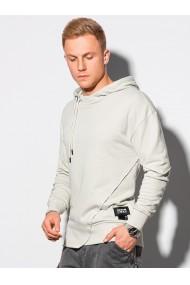 Men s hooded sweatshirt B1187 - light grey