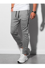 Men s sweatpants P961 - black melange