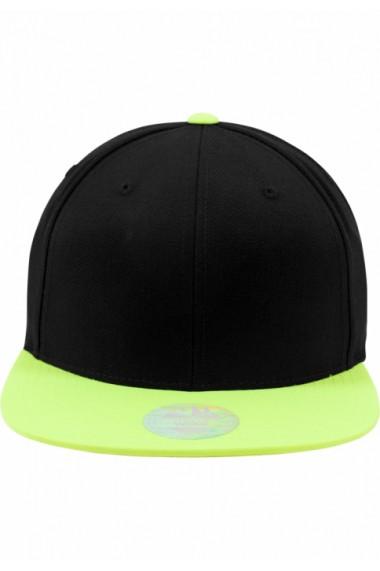 Sapca rap Snapback Two Tone negru-galben neon Flexfit