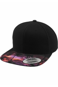 Sapca rap Snapback Sunset Peak negru Flexfit