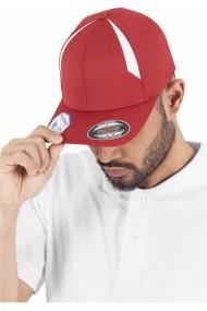 Sapca rap Flexfit Performance rosu-alb