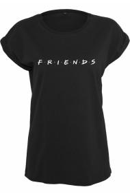 Tricou Friends Logo pentru Femei negru Merchcode