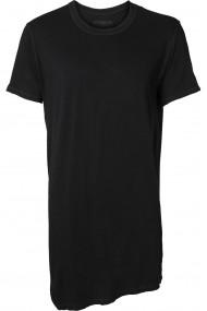 Tricou negru asimetric