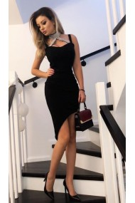 Rochie eleganta cu aplicatii 3D