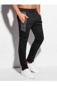 Pantaloni de trening barbati P1012 - negru
