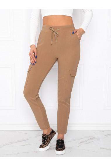 Pantaloni femei PLR006 - camel