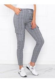 Pantaloni femei PLR005 - gri-alb