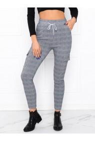 Pantaloni femei PLR005 - gri-albastru