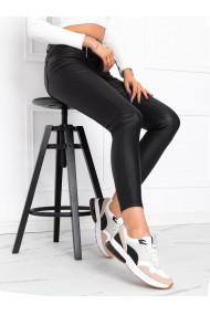 Pantaloni piele femei PLR009 - negru