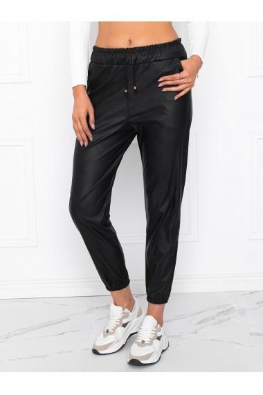 Pantaloni cerati femei PLR018 - negru