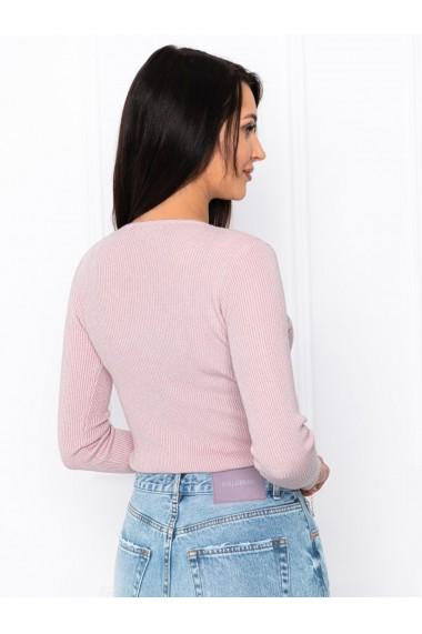 Pulover femei ELR008 - roz-deschis