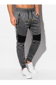 Pantaloni de trening barbati P1006 - gri-inchis