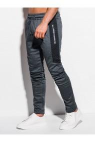 Pantaloni de trening barbati P1009 - gri-inchis