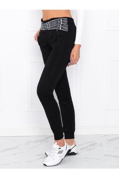 Pantaloni de trening femei PLR004 - negru