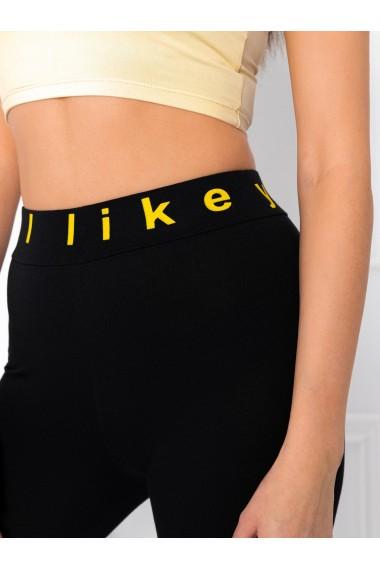 Colanti femei PLR002 - negru-galben