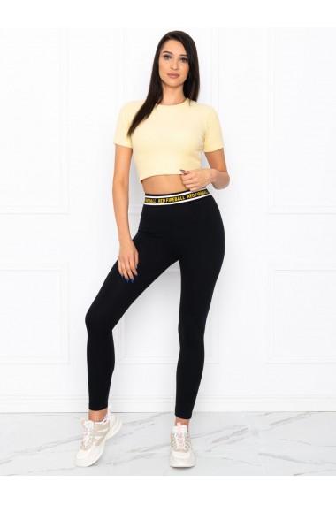 Colanti femei PLR003 - negru-galben