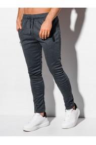 Pantaloni de trening barbati P1010 - gri-inchis